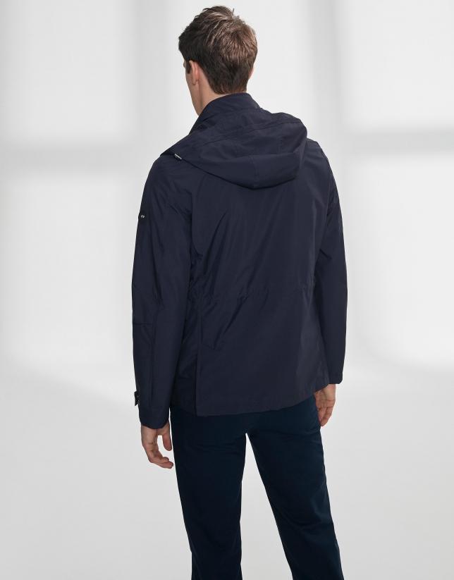 Parka bleu marine à quatre poches