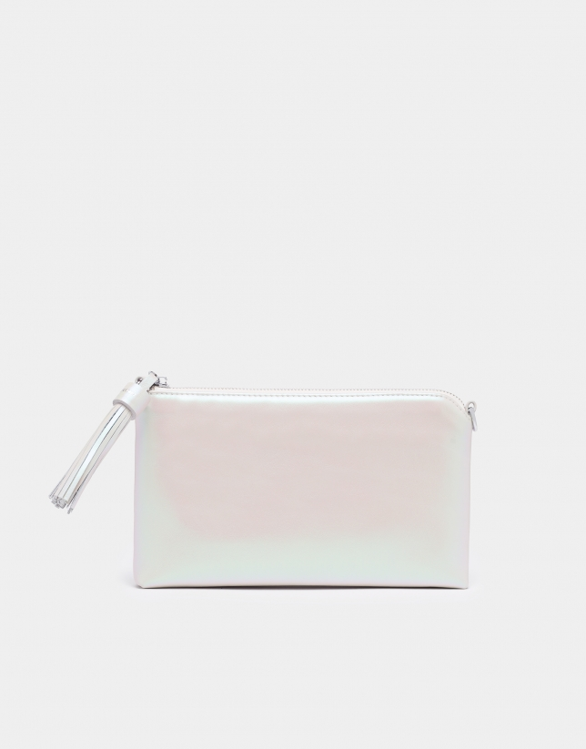 Pearly white Lisa Nano bag