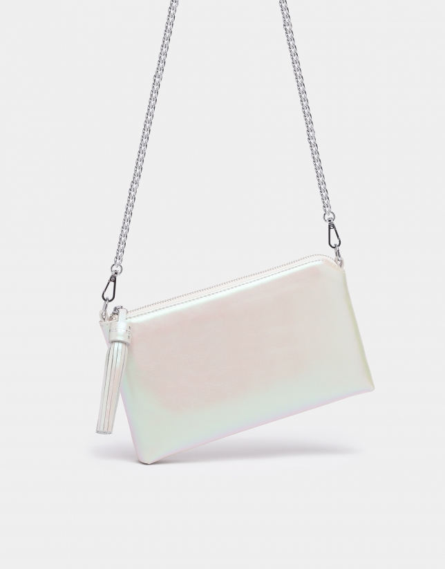Sac Lisa Nano blanc perlé