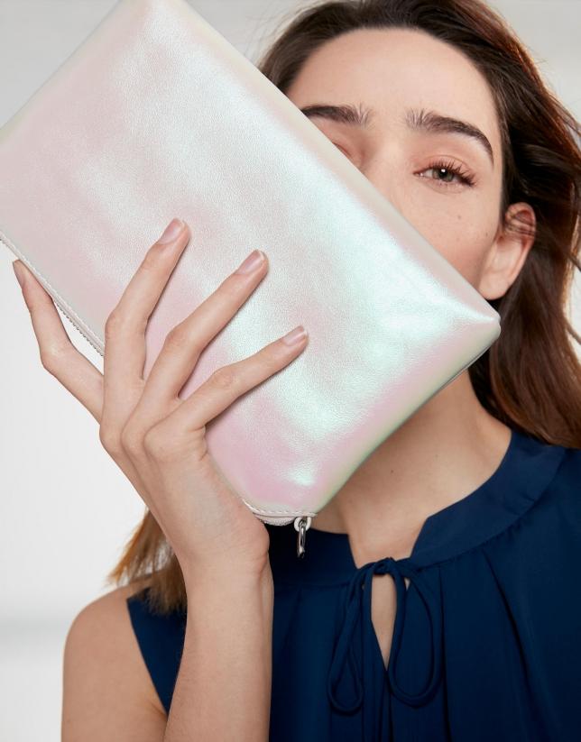 Bolso Lisa Nano blanco perlado