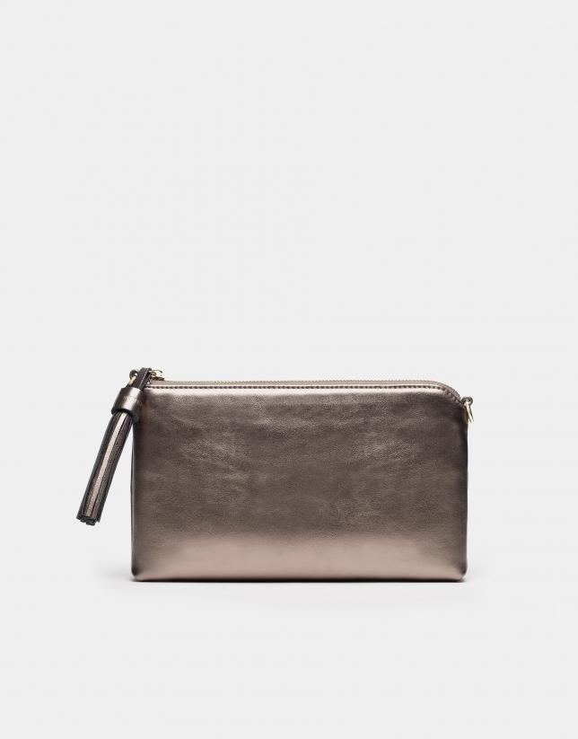 Metallized sulphur-colored Lisa Nano bag