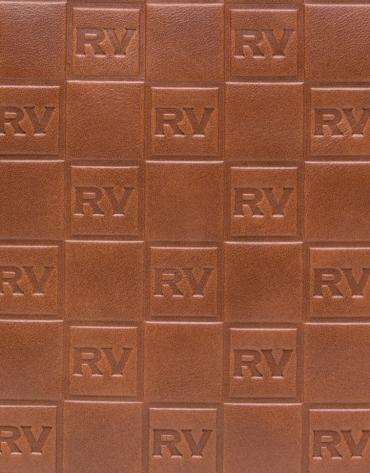 Sac Taylor en cuir imprimé du logo RV, couleur café