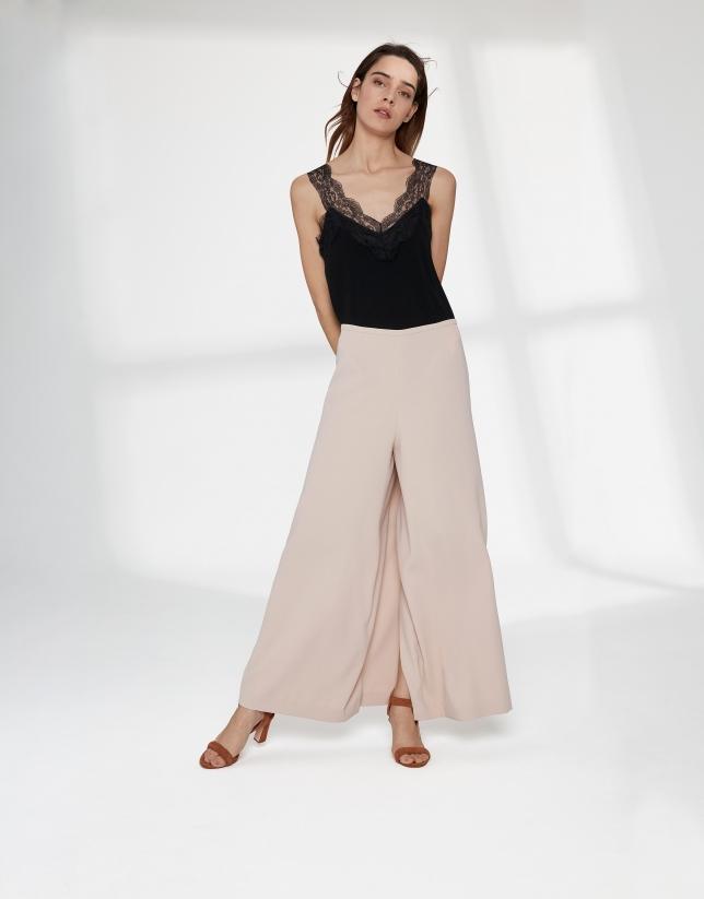 Jupe-culotte couleur sable