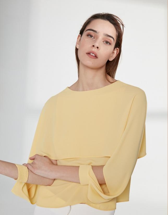 Top capa superpuesta amarillo