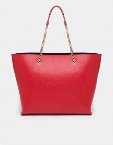 Red Hundred Points shopping bag