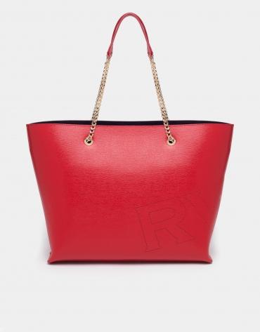 Red Hundred Points shopping bag