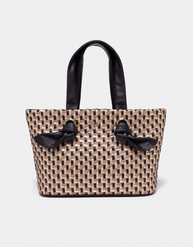 Bolso shopper mini Laia negro