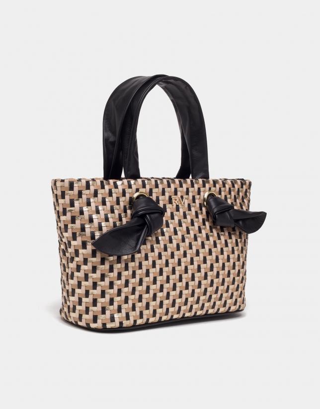 Black Laia mini-shopping bag