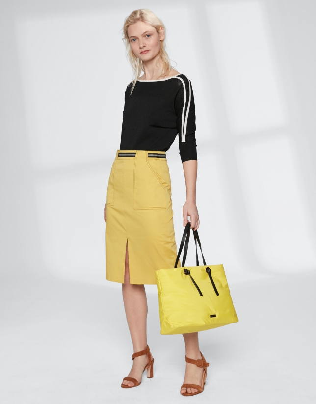 Yellow Cloud shopping bag