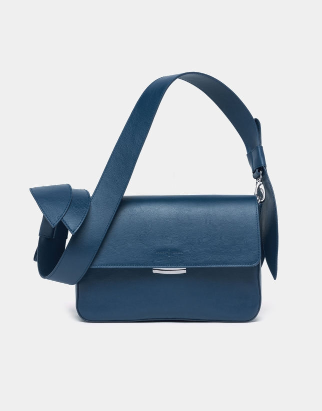 Capri blue Joyce Tie shoulder bag