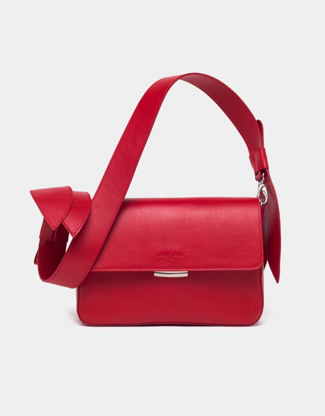 Red Joyce Tie shoulder bag