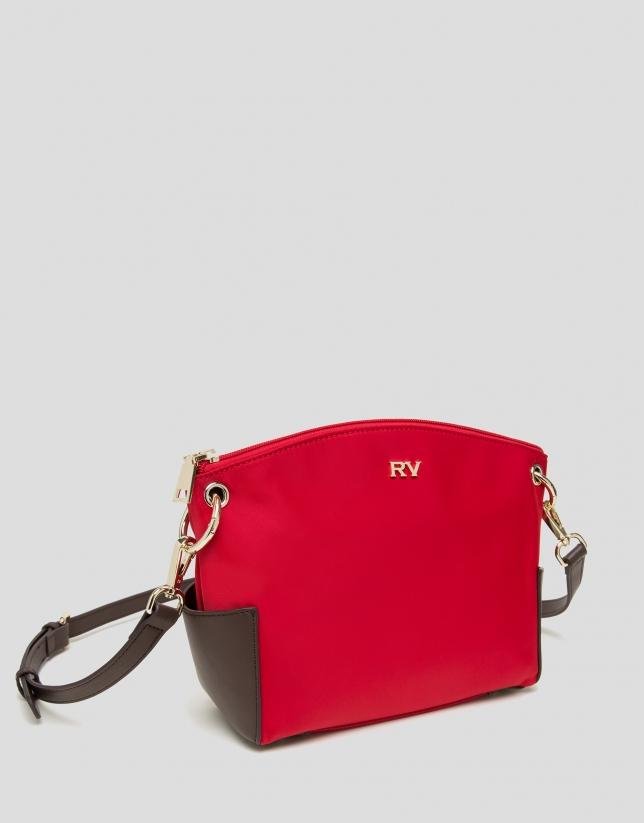 Red Nano Candem leather shoulder bag