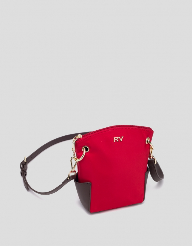 Red mini Candem leather shoulder bag