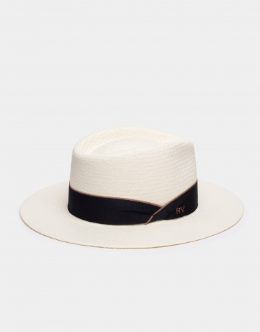 Natural fiber hat