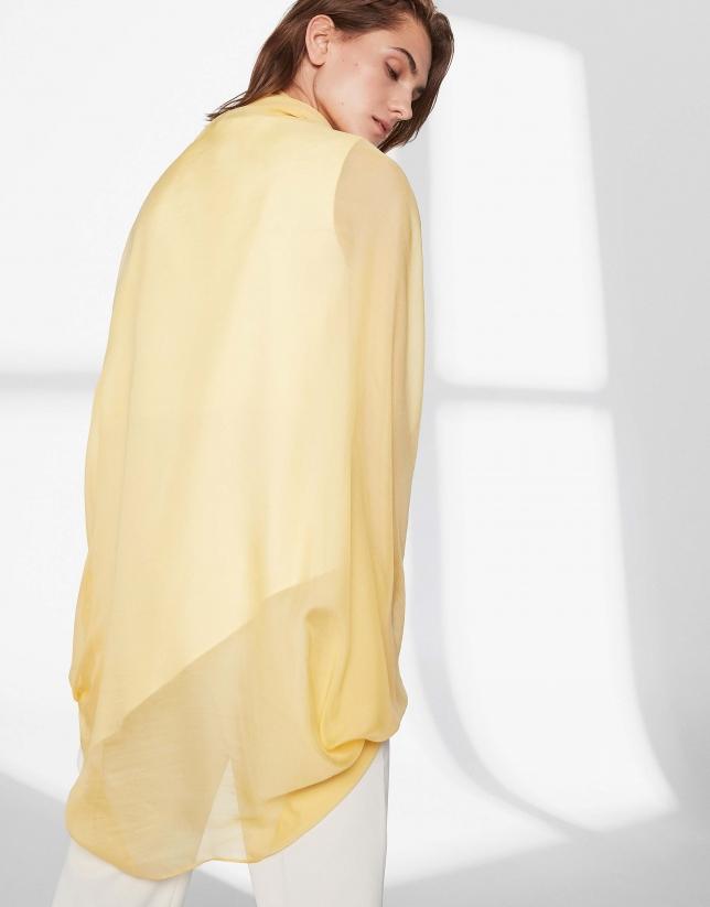 Yellow silk shawl