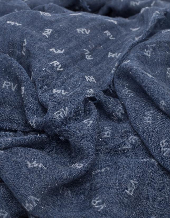 Etole unie bleu marine imprimé RV