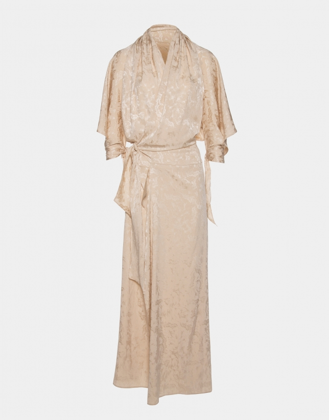 Vanilla long silk dress