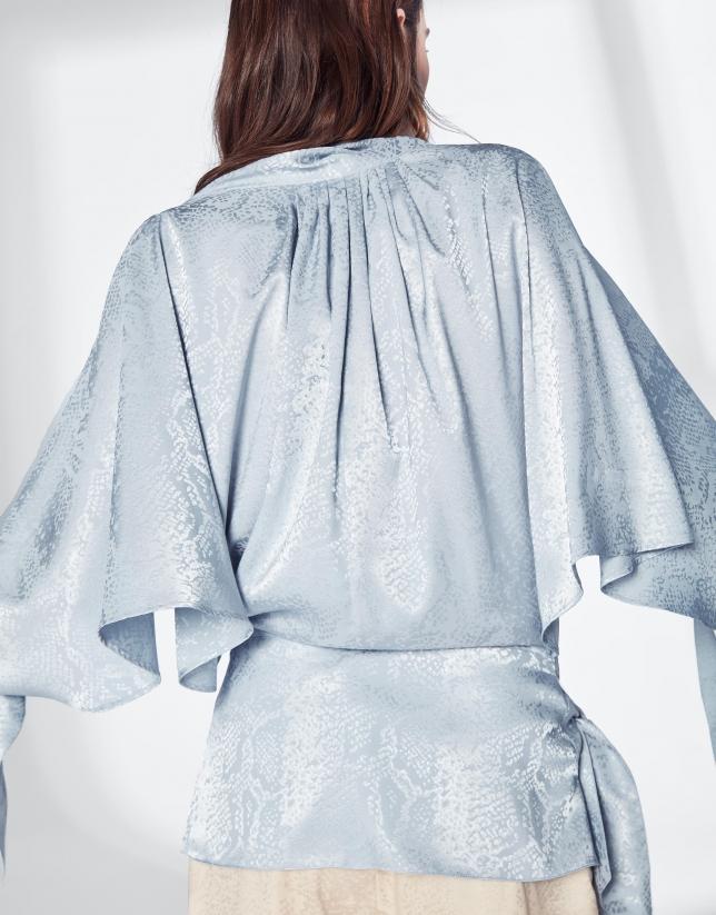 Pastel blue loose tunic