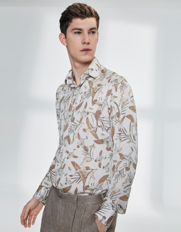 Shirt with bird print