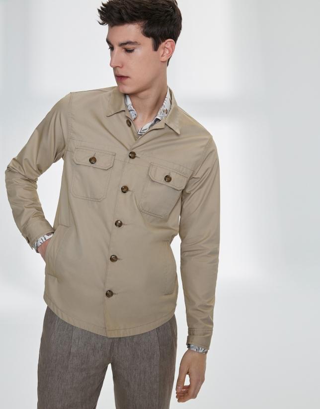 Blouson à poches, couleur sable
