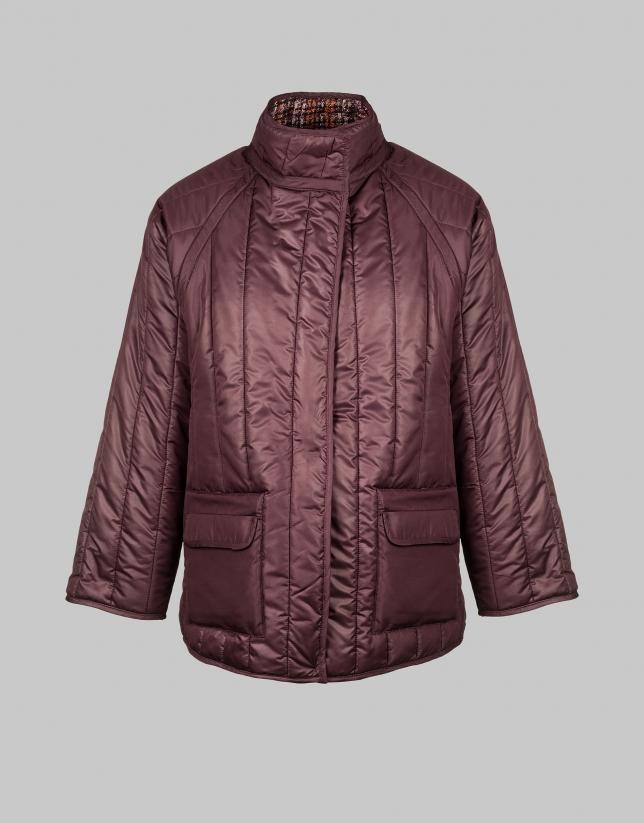 Chaqueta reversible chanel/acolchada tonos rosa