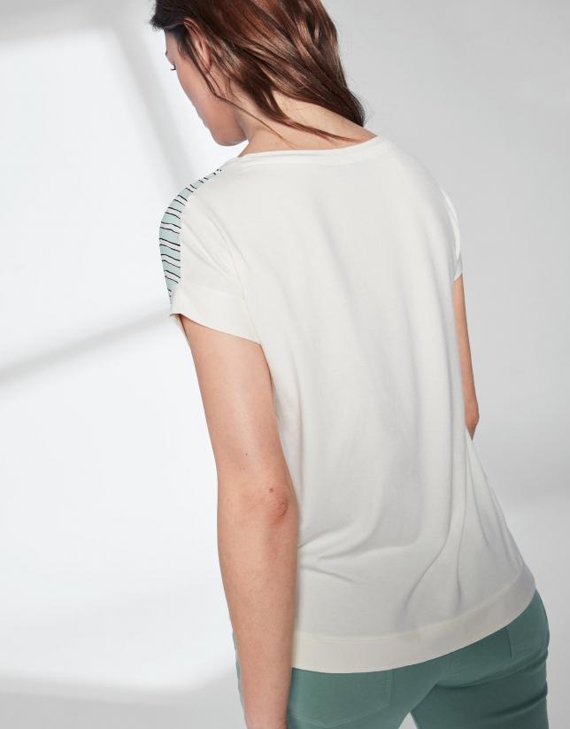 Aquamarine striped loose top