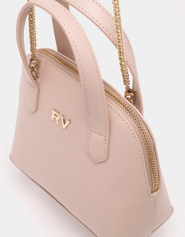 Mini sac à main Noa couleur nude