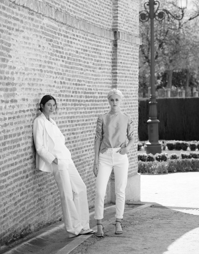 White linen pants suit