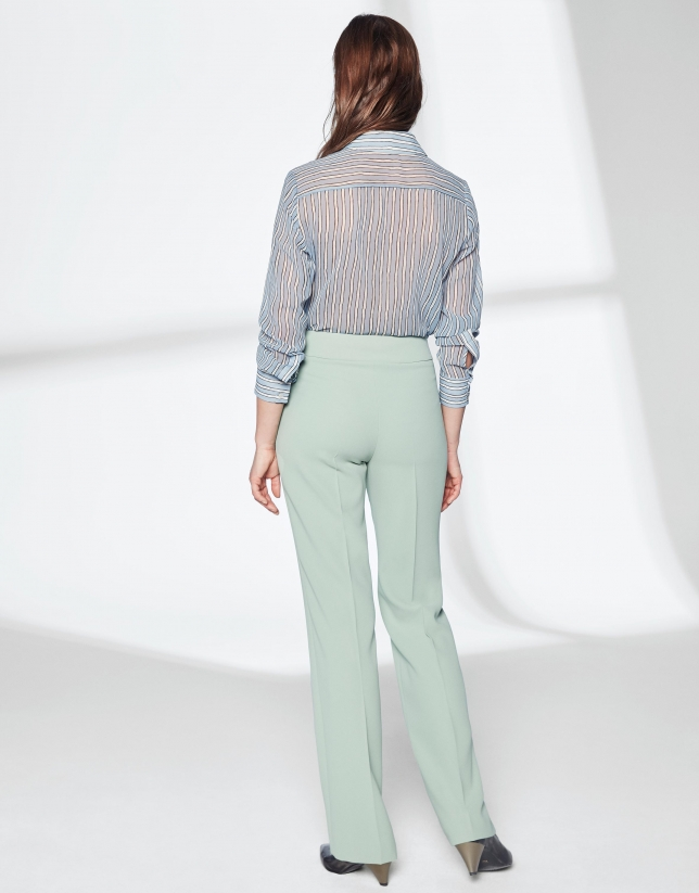 Pastel green straight pants