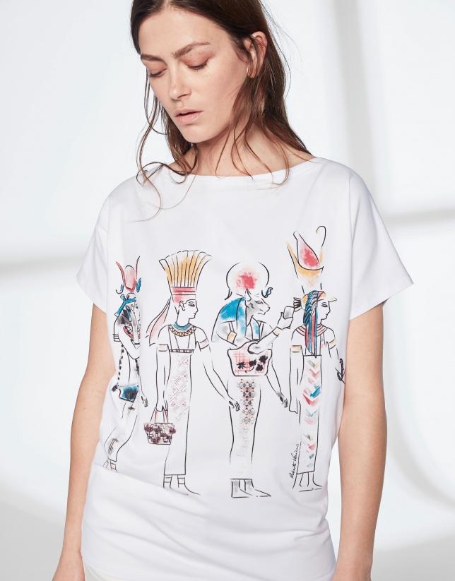 T-shirt imprimé égyptien