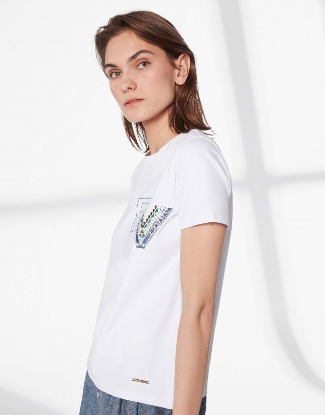 T-shirt imprimé du logo RV