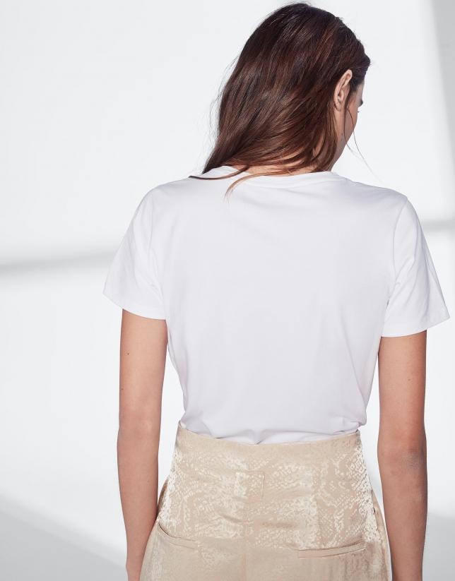 Camiseta VERINO strass tostado
