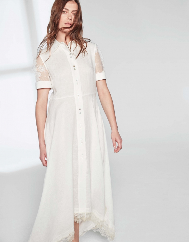 Ivory dress with lace