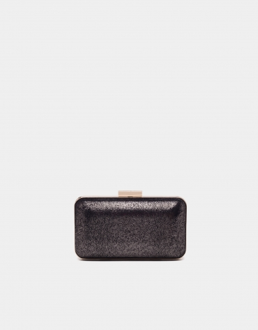 Black metallized box bag
