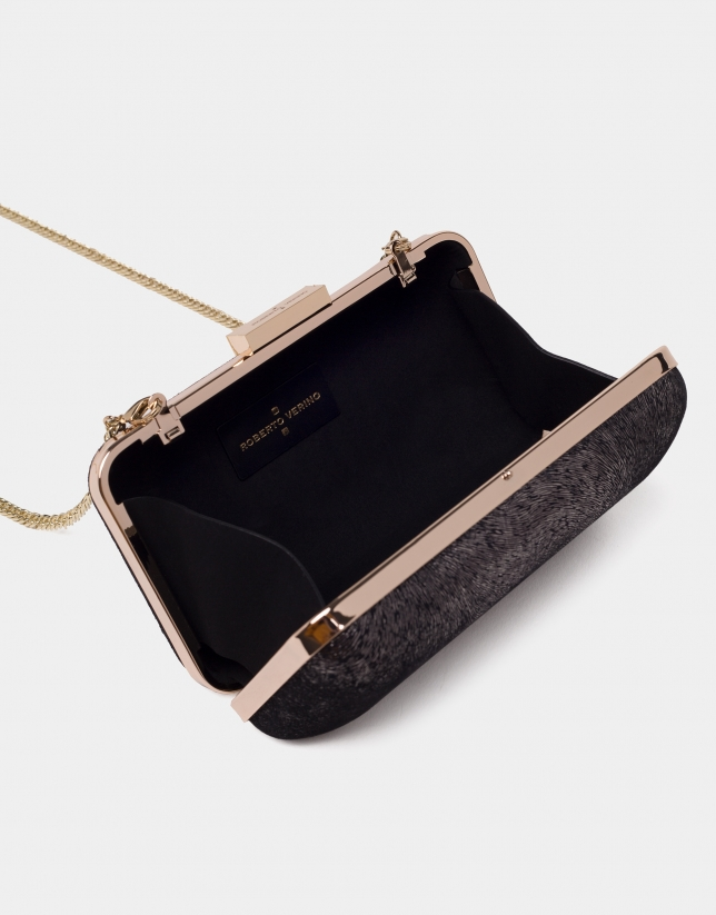 Black metallized box bag
