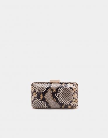 Bolso caja print serpiente