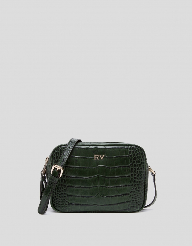 Green alligator Taylor shoulder bag