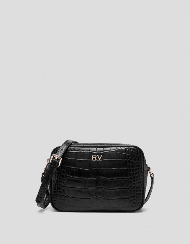 Black alligator Taylor shoulder bag