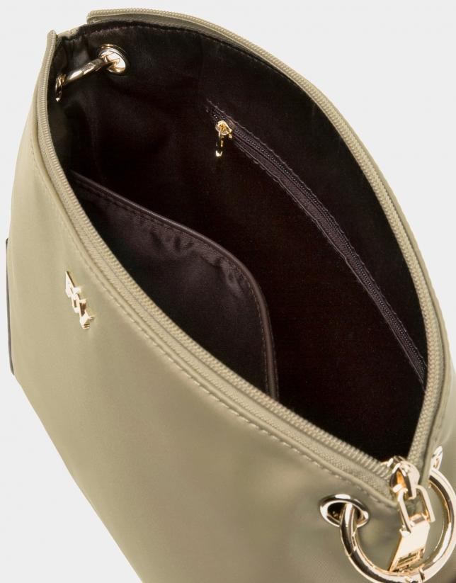 Beige Nano Candem leather shoulder bag