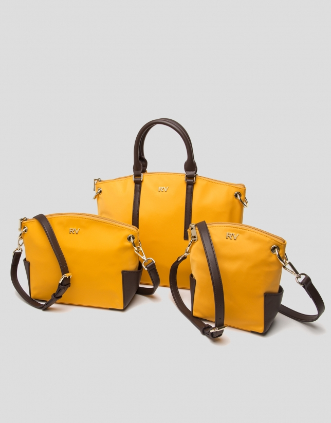 Mustard Nano Candem leather shoulder bag