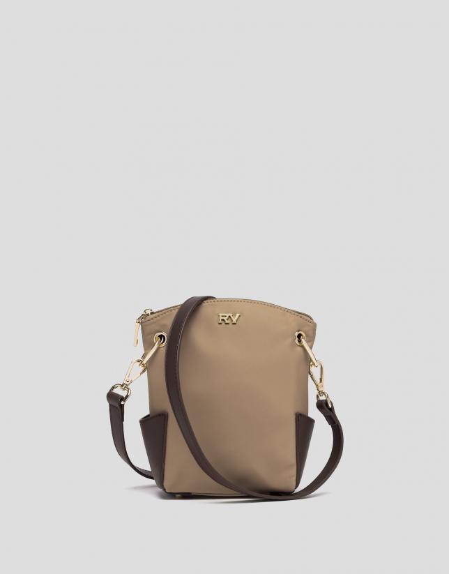 Beige mini Candem leather shoulder bag