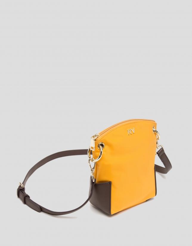 Mustard mini Candem leather shoulder bag