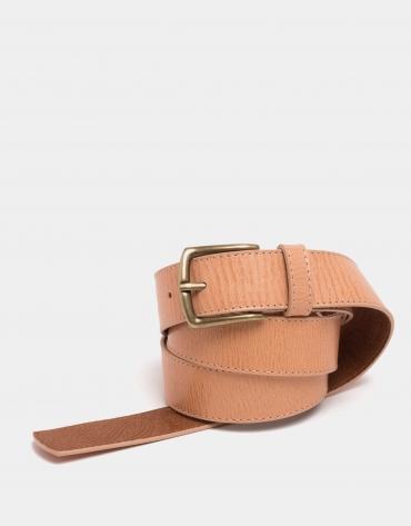 Sandy leather long belt