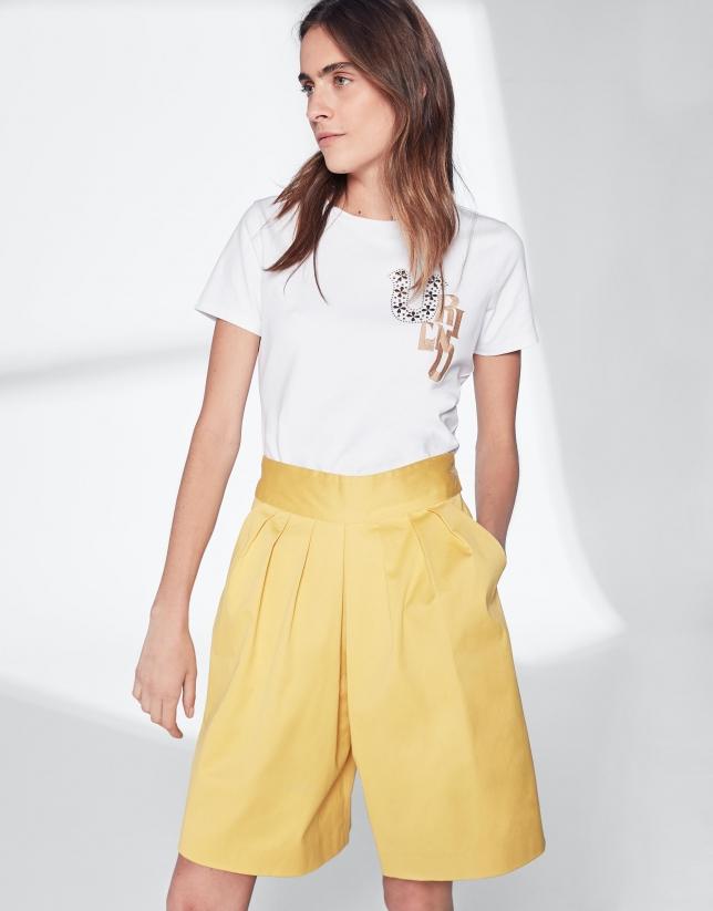 Bermuda algodón amarillo