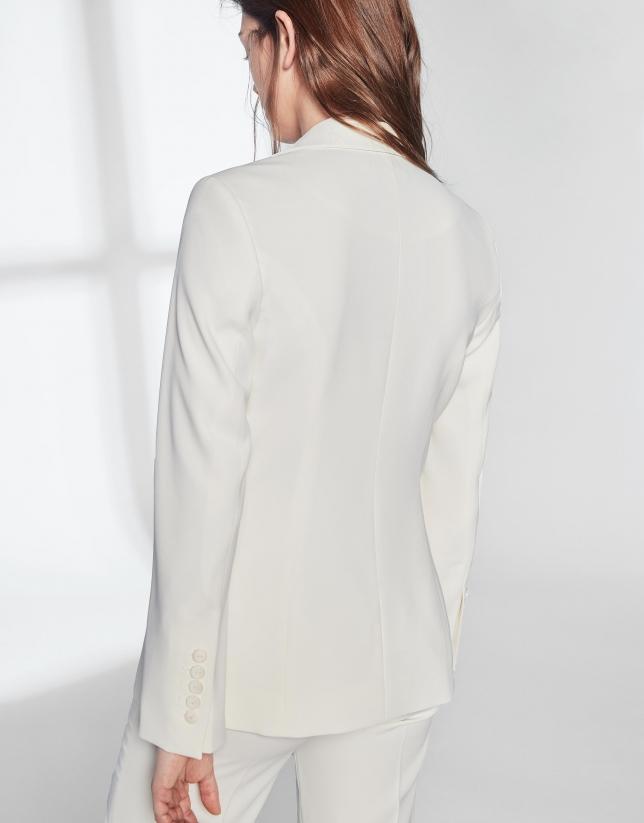 Veste blanche ivoire un bouton