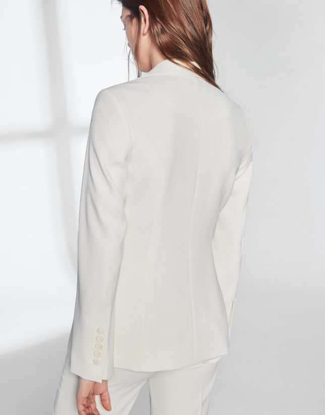 White sport jacket with one button