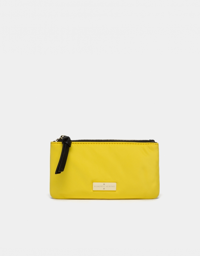 Portefeuille en nylon jaune