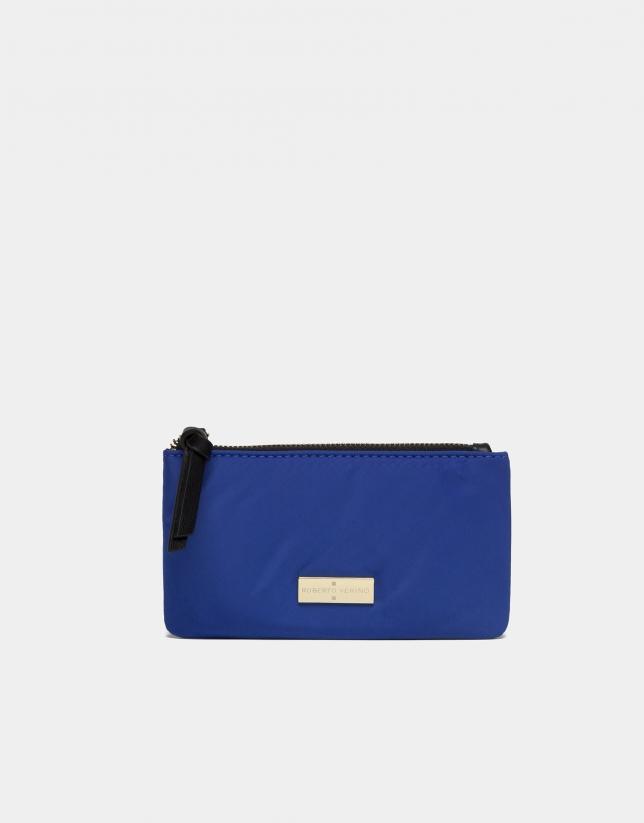 Portefeuille en nylon bleu