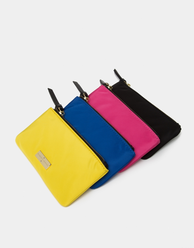 Blue nylon billfold
