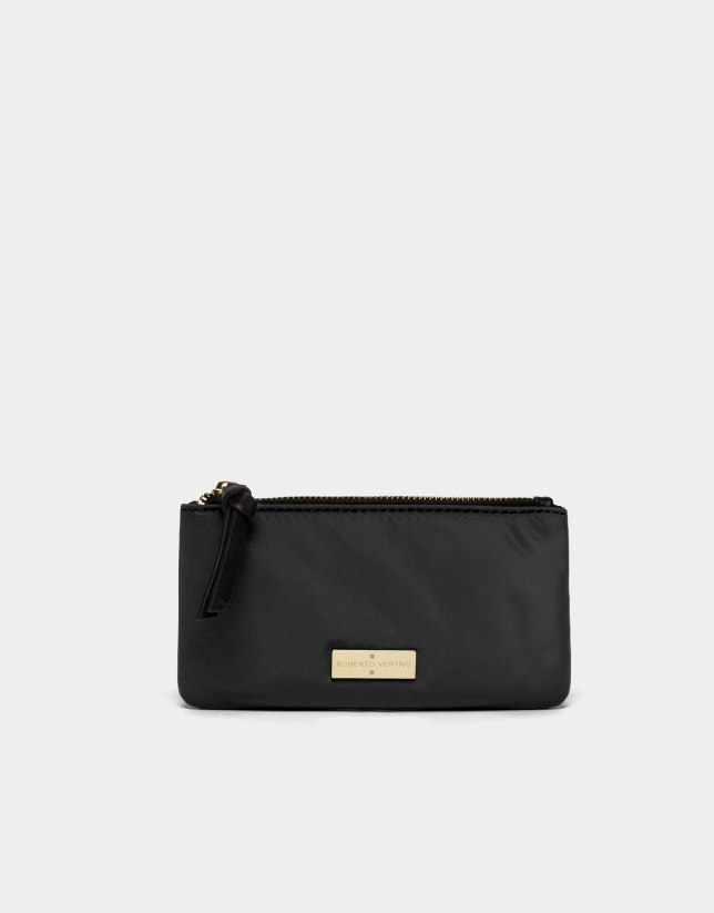 Black nylon billfold
